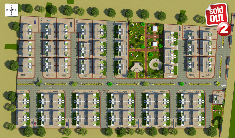 layout bungalows Dholera Metro City-2