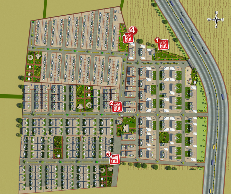 layout bungalows Dholera Metro City-4