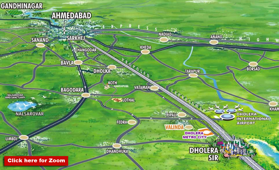 Location Map Dholera Metro City-4