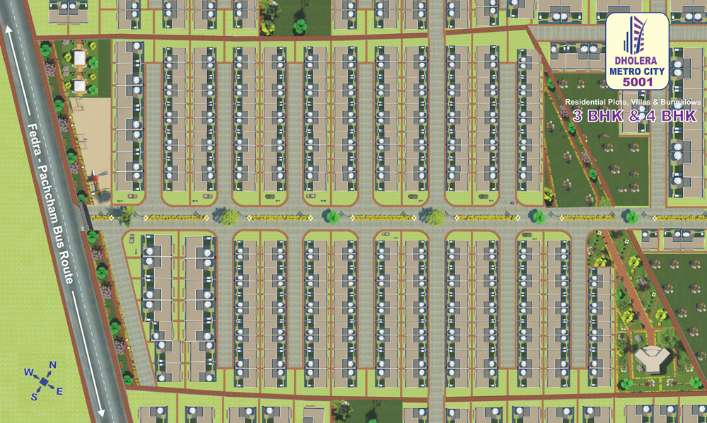 Layout Plan Dholera Metro City-5001
