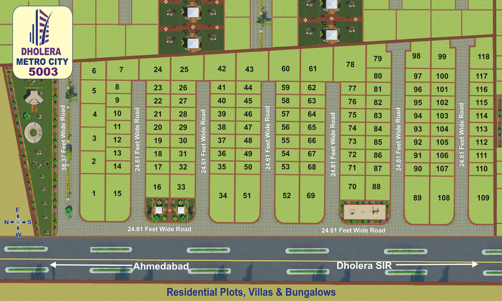 Layout Plan Dholera Metro City-5003