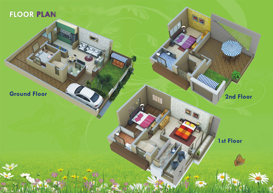 floor plan Dholera Metro City-5003