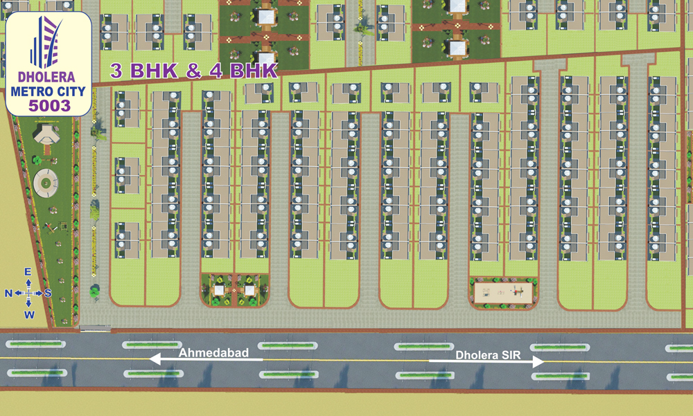 layout bungalows Dholera Metro City-5003