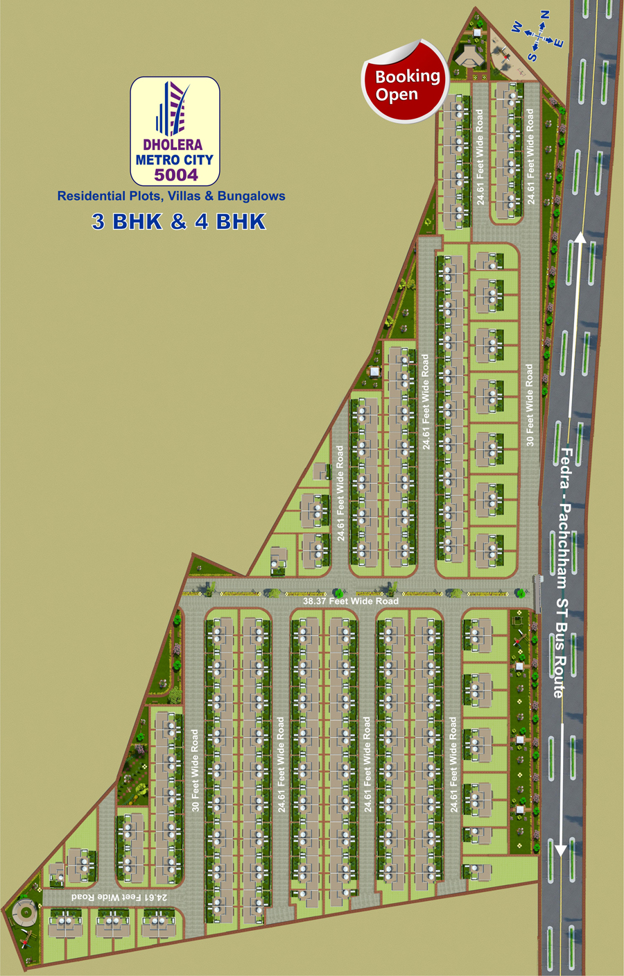 layout bungalows Dholera Metro City-5004