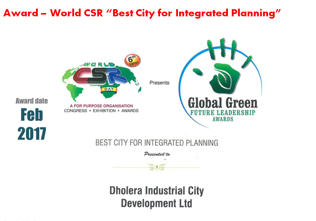 "Award – World CSR ""Best City for Integrated Planning"""
