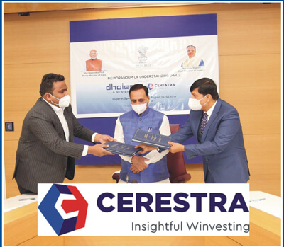 Government of Gujarat signs MOU with Cerestra Group to establish a Gujarat- Special Education Region at Dholera