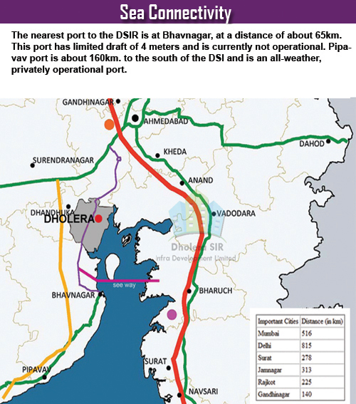 Sea Connectivity - Dholera SIR