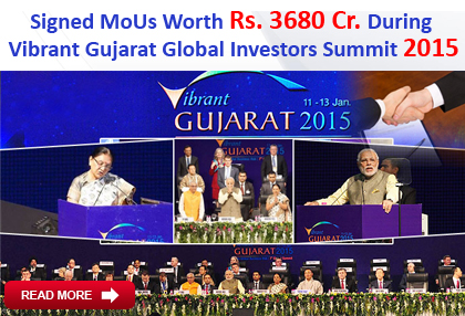 Signed MoUs with Govt Gujarat During  Vibrant Gujarat Global Investors Summit 2015